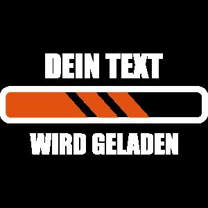 Dein Text Wird Geladen Ladebalken Energie Laden