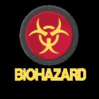 Biohazard Logo Used Look