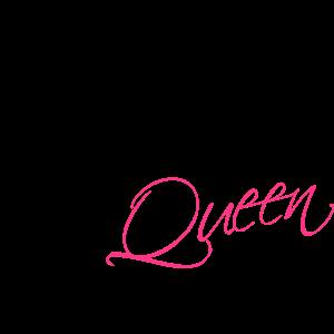 Kitchen Queen Text Logo Design