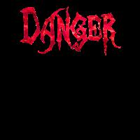 Danger rote Polygone