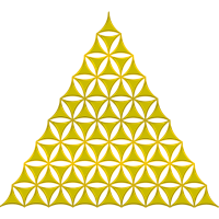 Flower Of Life Pyramide gold