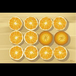 Orangen-Plakat