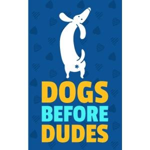 Mascarilla Dogs Before Dudes | Humor Perruno