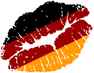 Fan-Shirt: Deutschland Kussmundabdruck