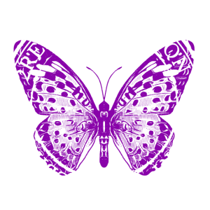 Butterfly retro dark purple 2reborn