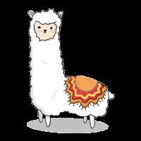 Lama Alpaka mit Decke - Geschenk
