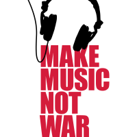 Make music not war (Kopfhörer)