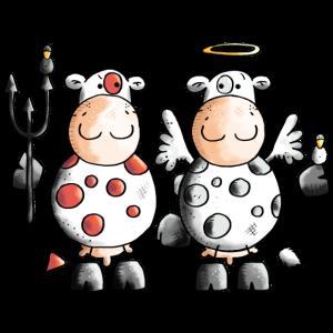 Teufel Vs Engel Kühe - Kuh