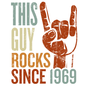 50. Geburtstag This Guy Rocks since 1969 Rockhand