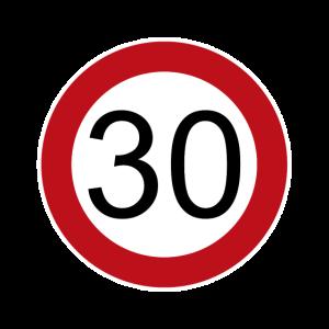 Happy Birthday 30 Verkehrsschild Geburtstag