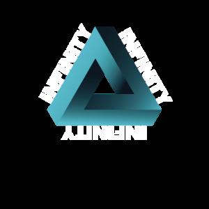 Unendlichkeit Penrose Dreieck optische Illusion