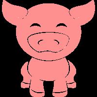 Süßes Kleines Baby Ferkel Schweinchen
