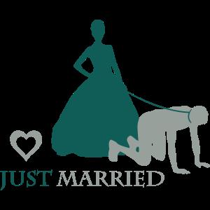 Ehemann von Frau an Leine