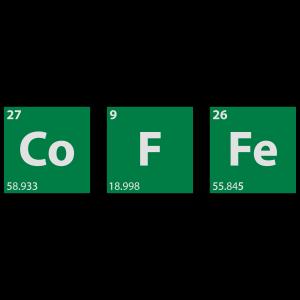 coffee, kaffee, Periodensystem, Chemie