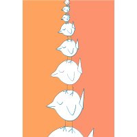 Süße Vögel Illustration