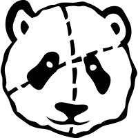 Panda gepunktetes Stofftier 1