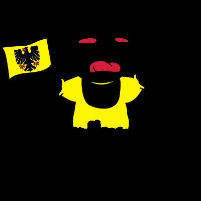 Ich brülle für Dortmund! - Ich brülle für Dortmund! - sport,soccer,schreikind,kleinkind fan t-shirt,fußballfan,fußball,deutscher meister,cup,baby fan t-shirt,Ich brülle für Dortmund!