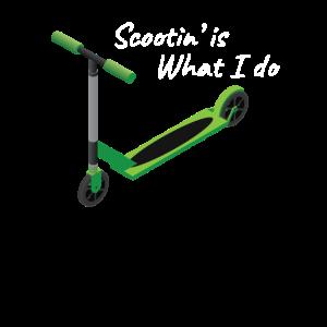 Rollerfahren Ist Was Ich Mache Tretroller Geschenk
