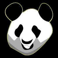 Panda Kopf Bambusbär Pandabär