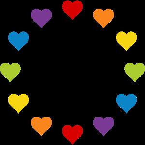 LGBT Gay Pride Herzen Regenbogen Europa Flagge EU