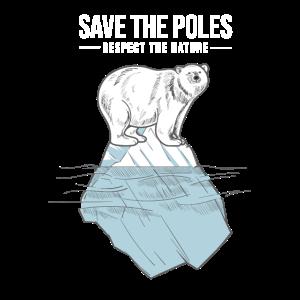 Polar Bär Umweltschutz Klimaschutz Erde Geschenk