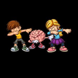 Schüler Dabbing mit Gehirn