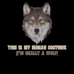 Wolf Mein Menschliches Kostüm Wölfe Liebe Geschenk