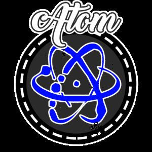 Atom für alle die Chemie und Physik lieben, blau