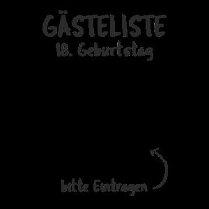 18. Geburtstag Gästeliste Gästebuch