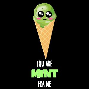Sie sind Minze für mich Cute Mint Ice Cream Pun