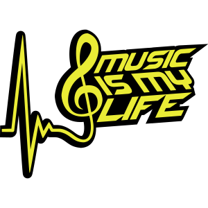 Music Is My Life Puls Musiknote Herzschlag