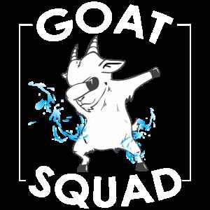 Lustiges Ziege Truppe Squad Shirt