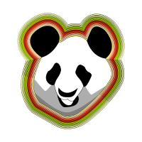 Glühender Pandakopf Regenbogen Geschenkidee