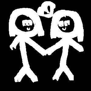 Paar Pärchen homosexuell Herz lesbisch Liebe