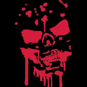 Schädel Kopf Totenkopf Blut Zombie