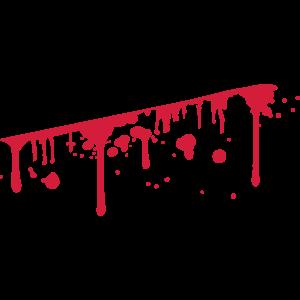 Wunde Blut Aufgeschlitzt Spritzer Verbluten
