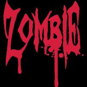Zombie Blut Graffiti