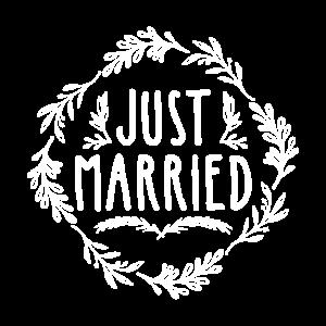 Just Married, geschenk braut bräutigam hochzeit