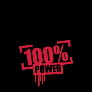 100 % Prozent Power Muskeln Bodybuilder Stark