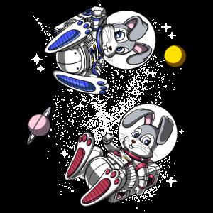 Nettes Kaninchen-Astronauten-Raum-Häschen