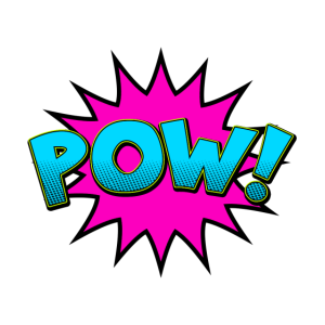Cartoon Comic Style POW!