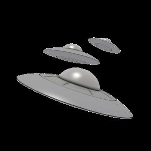 3 Ufo mit Aliens