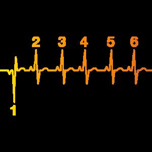 Biker Herzschlag EKG Motorrad Spruch Lustig cool