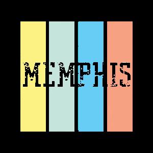 Memphis Retro   Tennessee USA Schriftzug Heimat