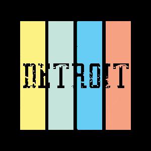 Detroit Retro   Michigan USA Schriftzug