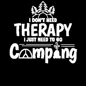Keine Therapie nur Camping Camper Geschenkidee