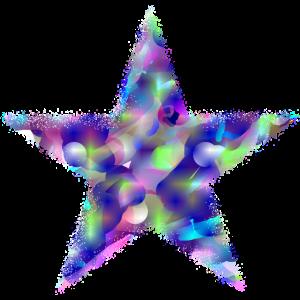 Space Stern - Psychedelisch Regenbogen Farben