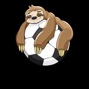 Faultier Geschenk Fußball Ball Fußballspieler faul