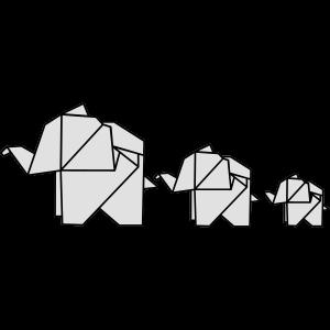 Origami, Elefant, Familie, Natur, Tier, Elefanten