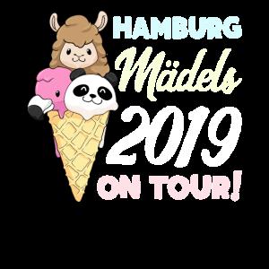 Mädels on Tour Geschenk Hamburg 2019 Panda Lama
